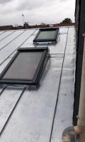 Couverture en zinc en joint debout