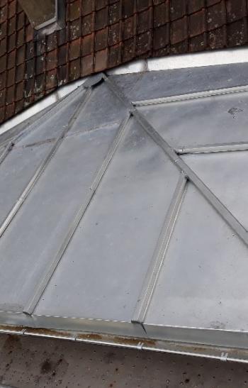 couverture en terrasse à tasseaux (zinc)